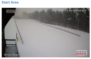 From the Birkie Start webcam. This is what we like to see!